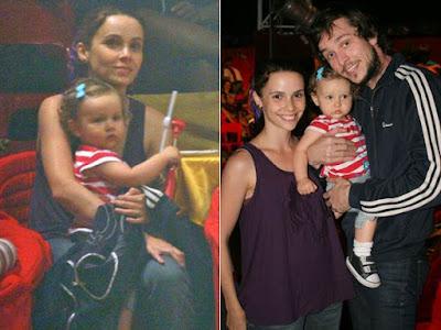 Debora Falabella y su Esposo Debora Falabella y su Hija