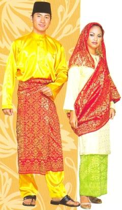 pakaian tradisional bagi kaum Melayu