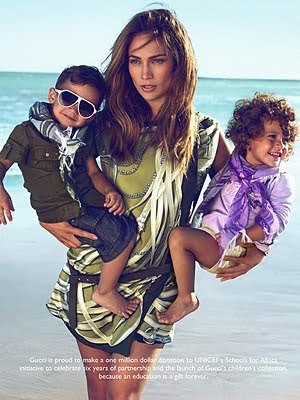 jennifer lopez kids gucci ad. for Gucci#39;s new children#39;s