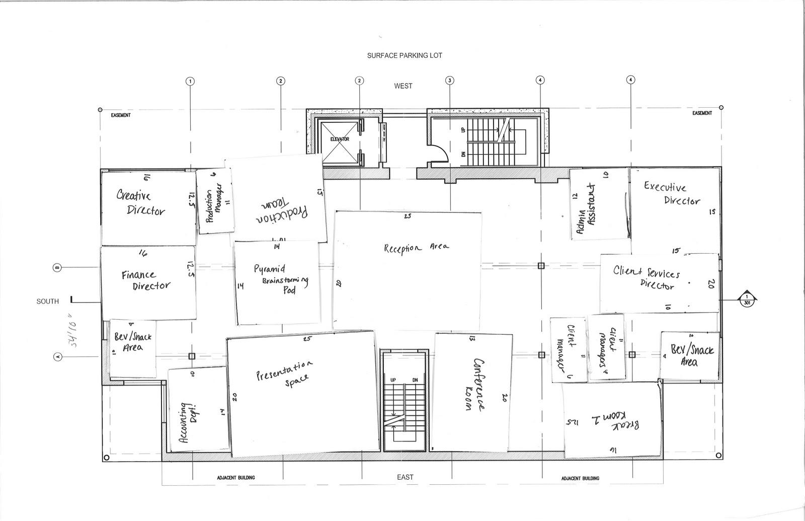 Sarah Taylor  Landor Office Design Project  Process Work
