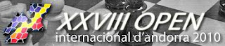 Cartel del XXVIII Open internacional de Ajedrez de Andorra