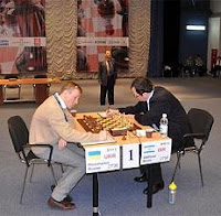 Boris Gelfand y Ruslan Ponomariov en la final de la Copa del Mundo de Ajedrez 2009