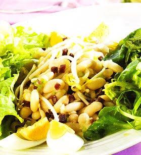 ensalada germinados con alubias