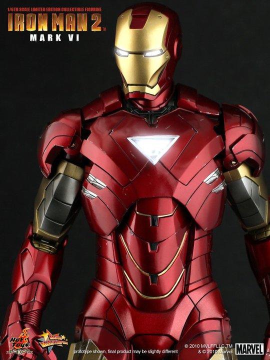 hot toys iron man mark vi mecha blog