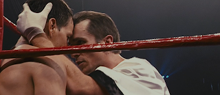 christian bale and mark wahlberg in boxing ring in the fighter