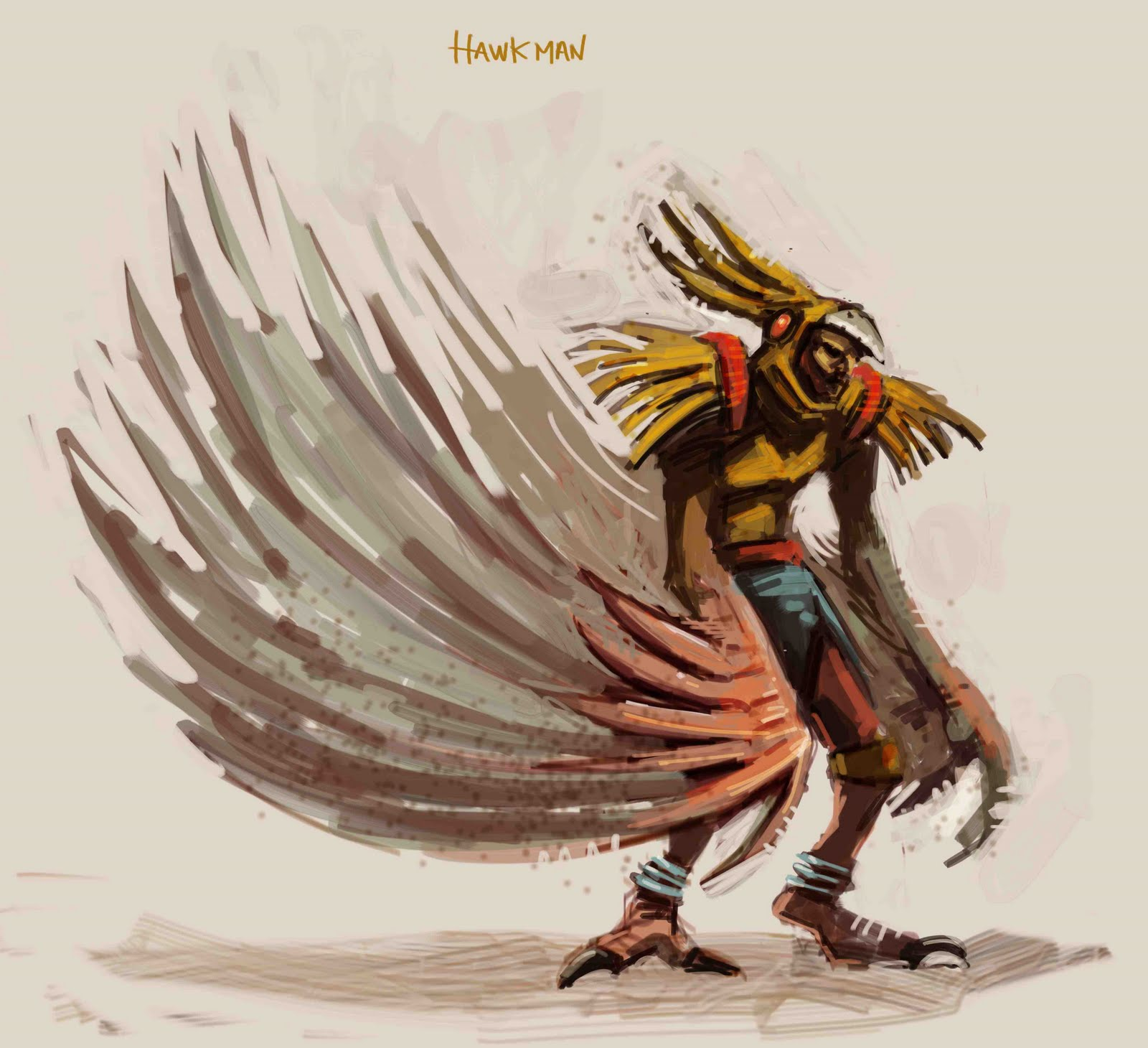 JuanBJuan Concept Art: hawk man. Flash Gordon
