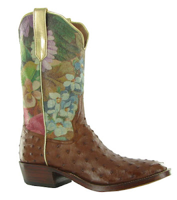 Brown & floral Rios of Mercedes cowboy boots