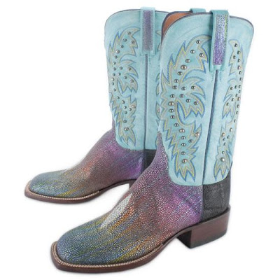 Lucchese Rainbow Stingray Cowboy Boots
