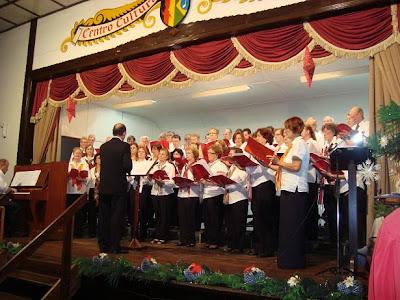 O palco do C.C. 25 de Julho de Blumenau