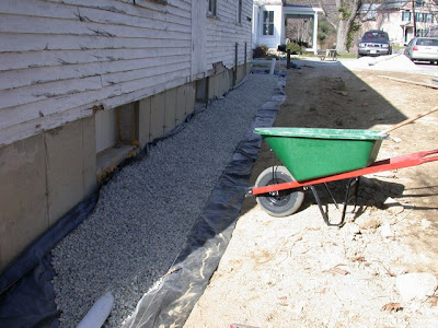 landscaping plans french drain alternatives projects design diagram retaining wall calculations