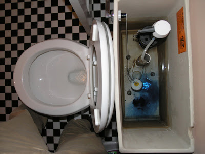no leak toilet flapper. So then what happens when you have a real leaking toilet  I folded up short piece of foil insulation tape and stuck it under section the flapper Dover Projects How to Check for Leaky Toilet
