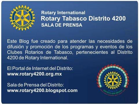 SALA DE PRENSA DE ROTARY TABASCO D4200