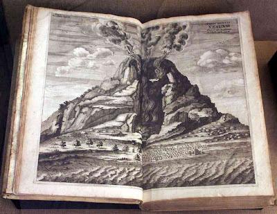 Везувий из книги Атанасиуса Кирхера Mundus Subterraneus (1664)