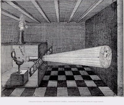 Гравюра грешник в аду: волшебный фонарь Кирхера в действии
