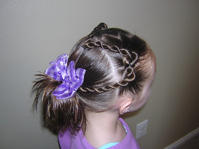 The darling bow for this hairstyle came from Madibu Bows.