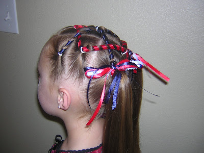 Crazy Hair Bows http://www.princesshairstyles.com/2009/06/4th-of-july-hairstyle-yes-another-one.html