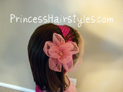 fancy headband hairstyle