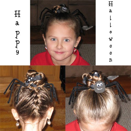 Halloween Hairstyles - The Spider | Hairstyles For Girls ...