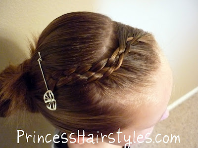 front braid with bobby pin