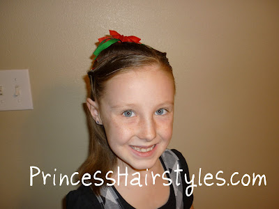 easy holiday hair style