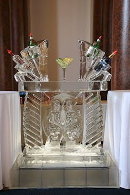Art Below Zero created a booze luge for wedding show at 1451 Renaissance Place