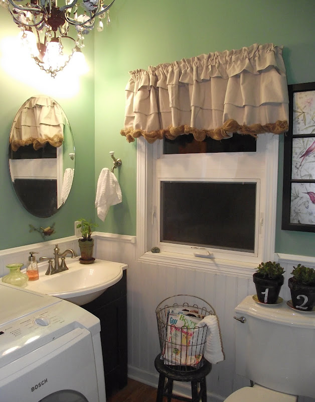 Eclectic chic bathroom/laundry room title=