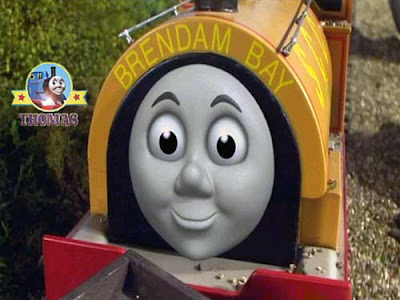 Gordon Takes a Shortcut and spots Train Ben the tank engine from the Brendam dockyard sea ship port