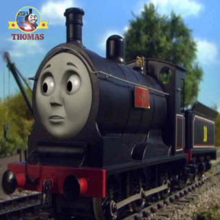Oliver started to move to worst rolling stock railway cars with Douglas tank engine friends