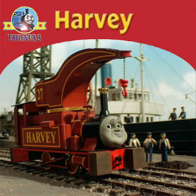 Thomas & Friends have a special day on Sodor railways a new arrive burgundy color Crane Harvey train