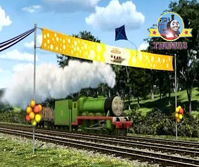 Thomas and Friends the Runaway Kite movie DVD with Edward tank engine at the Sodor Island