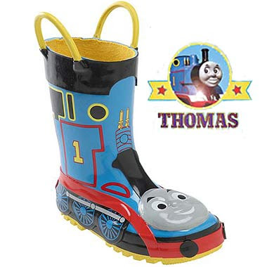 Excellent quality water resistance childrenswear trendy Thomas the train footwear designer boots