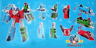 Character Tomy Thomas Transformer action figure model box set full colored instructions on the back