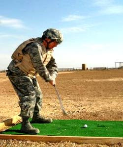 Taking a break from everyday activities golf tourneys in Iraq 2