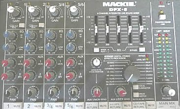 Mackie Dfx6 6 Inputs Mixers I Dj Disco Sound Lighting