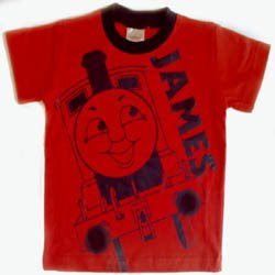 Age 5 red james engine thomas t-shirt pic