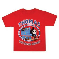 boys red funky t-shirt thomas tank top