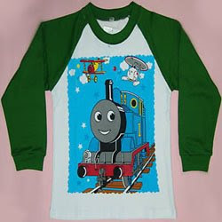 brand-new fashionable white and green thomas tank cotton shirt pic