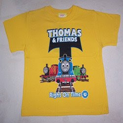 yellow thomas & friends right on time trendy kids t-shirt