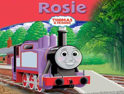 America made the brilliant red Rosie tank engine a small scale railway drawing in wooden station