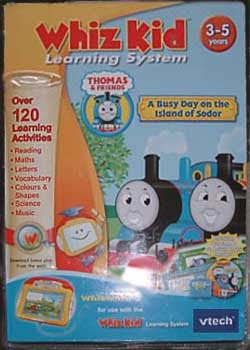 Vtech Whiz ware for the Whiz Kid Learning System. Thomas the Tank Engine CD-ROM