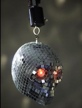 disco party light mirror ball skeleton skulls