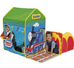 adventure Thomas tents with railway tunnel
