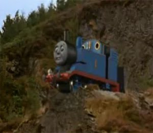 Thomas the tank on the top of Muffle Mountain
