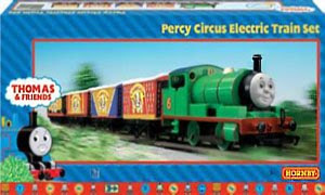 Percy circus electric trains made by Hornby OO scale