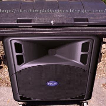 vintage disco ugly RCF speaker cabinet