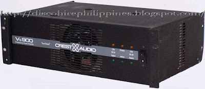 a 900 vs crest audio power amplifier requirements for a stereo dj stage show