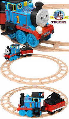 Sodor Island Peg Perego battery operated Thomas track rider ride on train toy set with headlight