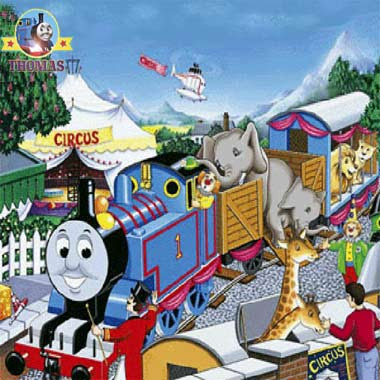Play computer fun kids activities online Thomas the tank engine games circus train jigsaw puzzle