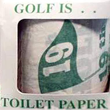Funny toilet golf king of the throne room golfing custom printed paper roll for a clubhouse restroom