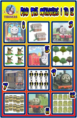 Free Thomas the train games online fill in the missing number square maths educational kids learning